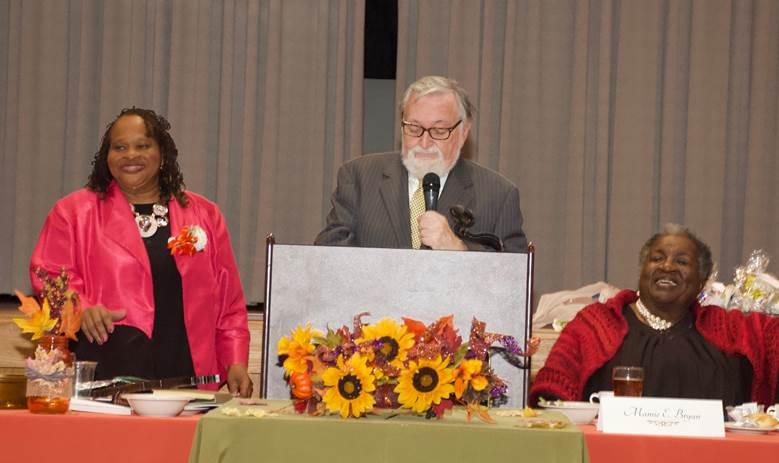 Man With White Beard Giving Speech