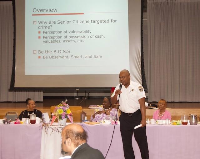 Man In Uniform Giving Speech 1