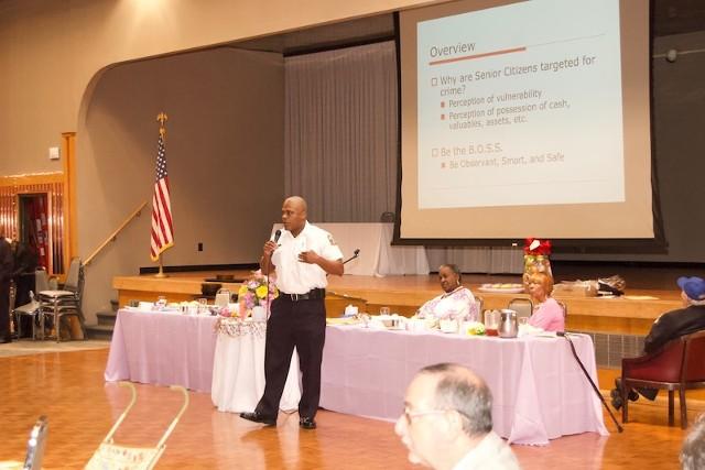 Man In Uniform Giving Speech
